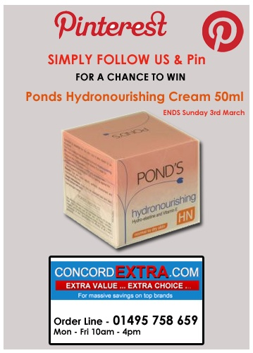 Simply Follow & Pin for a chance to Win Ponds Cream 50ml
