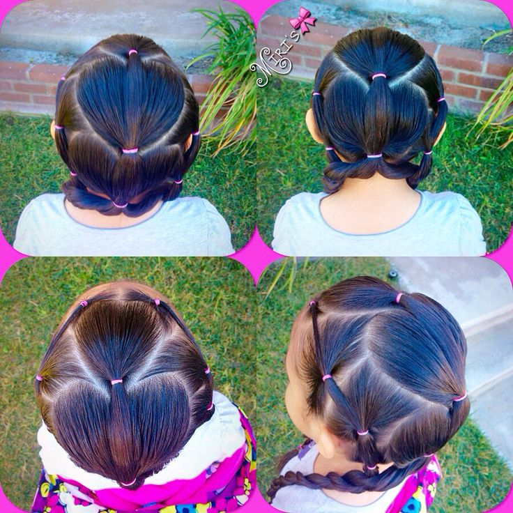 Hearts Hair style for little girls