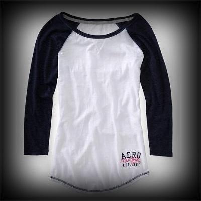 Aeropostale レディース Tシャツ エアロポステール Long Sleeve NY Baseball Crew Tee Tシャツ-アバクロ 通販 ショップ-【I.T.SHOP】 #ITShop