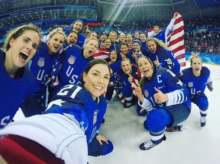 Usa Women S Hockey Win Gold Team Usa Hockey Women S Hockey Usa Hockey