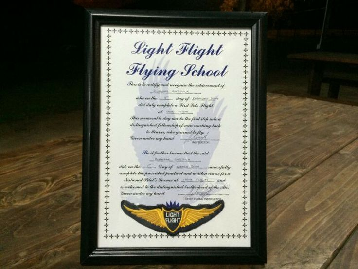 Light Flight certificate for Binayak Bastola