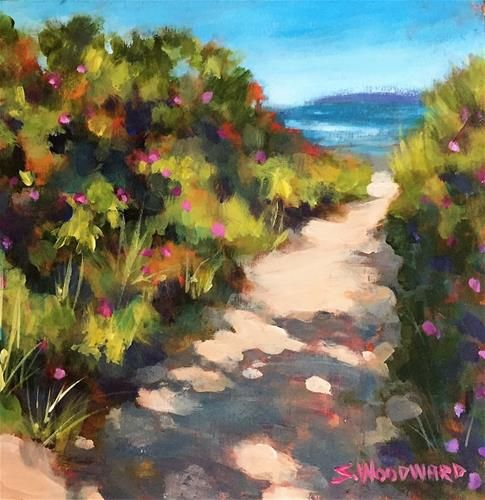 """Daily Paintworks - """"Beach Day"""" - Original Fine Art for Sale - © Suzanne Woodward"""