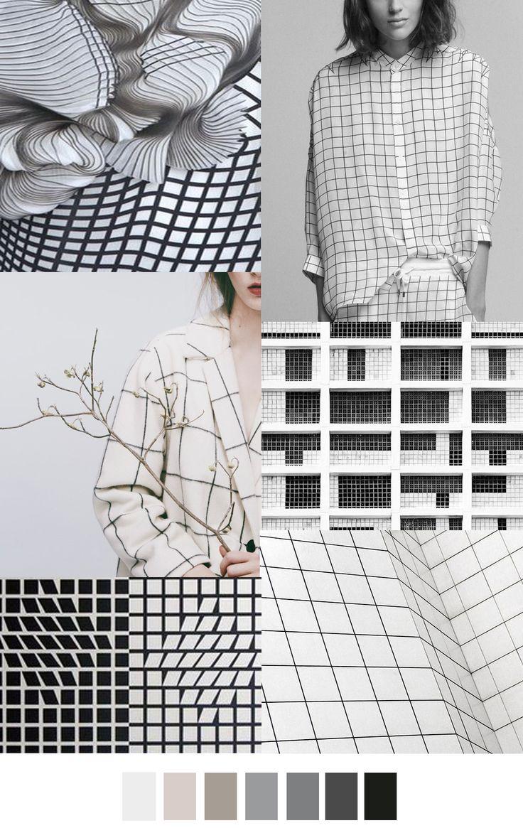 TENDENCIA GEOMETRÍA + Blanco y Negro > en estampados rejilla / grid lock #coolhunting #moda #estampados