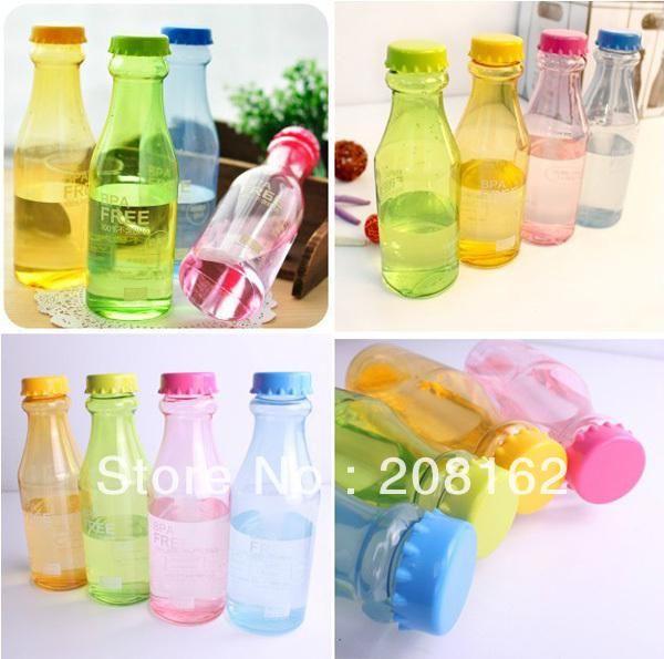 Wholesale Water Bottles - Buy Portable Unbreakable Sports Water Bottles Sealed Cute Leakproof Plastic Drink Cups Glass, $6.89 | DHgate