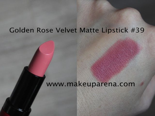 Golden Rose Velvet Matte ruževi: nove nijanse 35-39