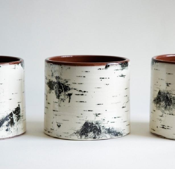 Swedish pottery. Birch motif. So pretty. So Swedish!