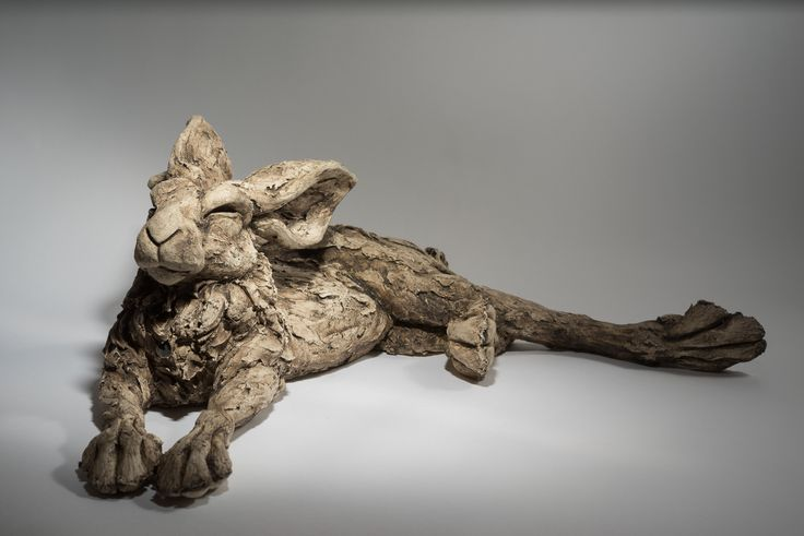 Reclyning Hare | Lloyd-Coombes Ceramics