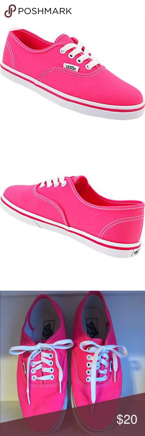 Vans Authentic Lo Pro Skate Shoes Brighten upper your summer attire this year with the vibrant Authentic Lo Pro skate shoe from Vans. This low-profile shoe features a canvas upper and creates a great in-shoe feel that will keep your feet feeling great all day long. In great condition! ❣️ smoke-free home ❣️ Vans Shoes Sneakers