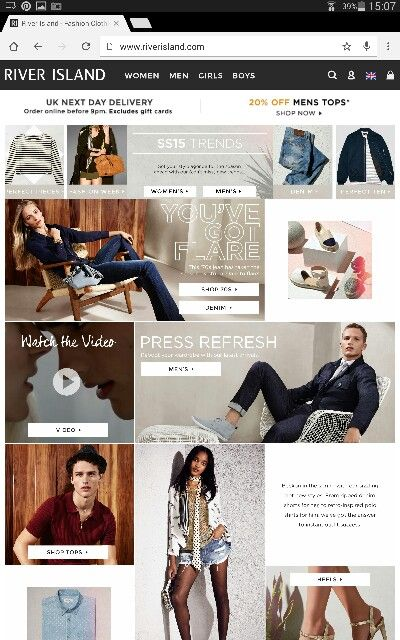 Example of karruece x river island place - online website