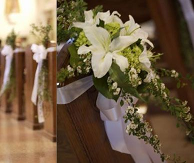50 best Wedding Pew Decorations and Tutorials images on Pinterest