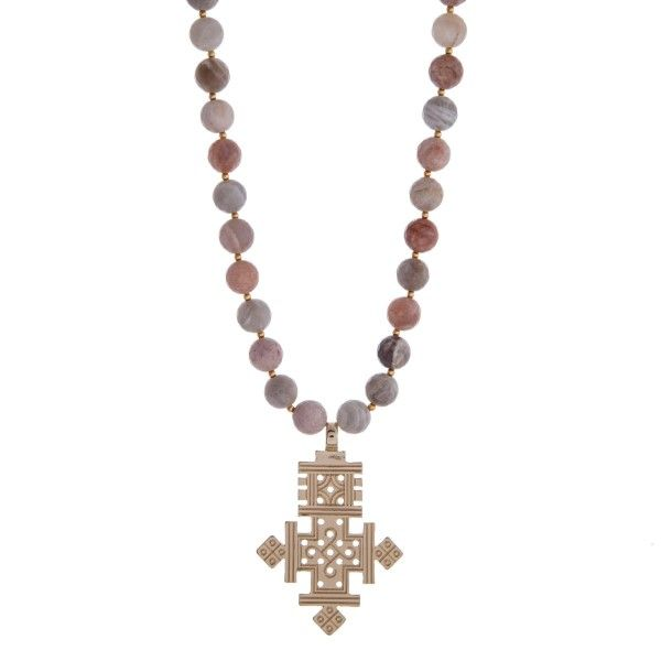 98 best cross jewelry images on pinterest cross jewelry fashion wholesale gold necklace gray peach natural stone beads ethiopian cross pendant aloadofball Choice Image