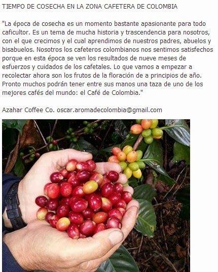 Ignacio Gómez Escobar - Marketing - Logística - Retail: TIEMPO DE COSECHA EN LA ZONA CAFETERA DE COLOMBIA http://igomeze.blogspot.com/2013/11/tiempo-de-cosecha-en-la-zona-cafetera.html