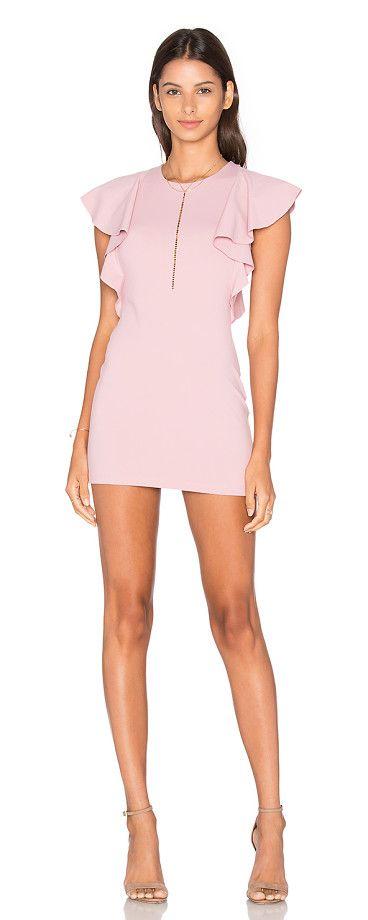 Lana 16 Dress by Susana Monaco. 86% nylon 14% lycra. Unlined. Ruffle sleeves. Jersey knit fabric. SUSA-WD1685. S16D 33302R. Sophisticated and modern, Susana Monaco dresses the woman inside all of us. #susanamonaco #dresses