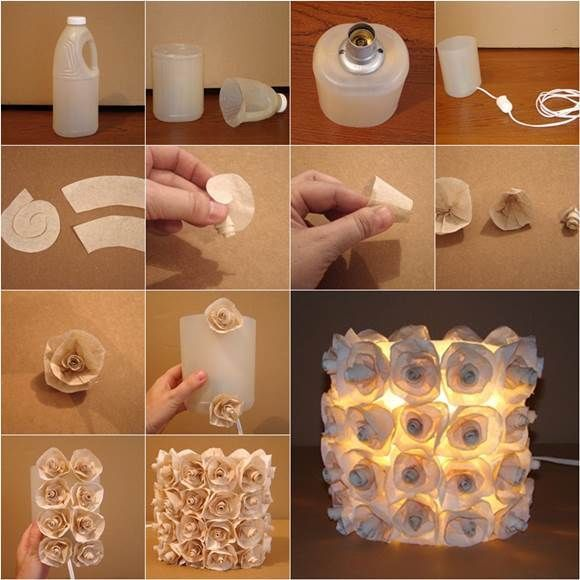 Home Decor Crafts Part - 29: DIY Rose Lamp From Plastic Bottles Diy Craft Crafts Reuse Home Decor Easy  Crafts Diy Ideas