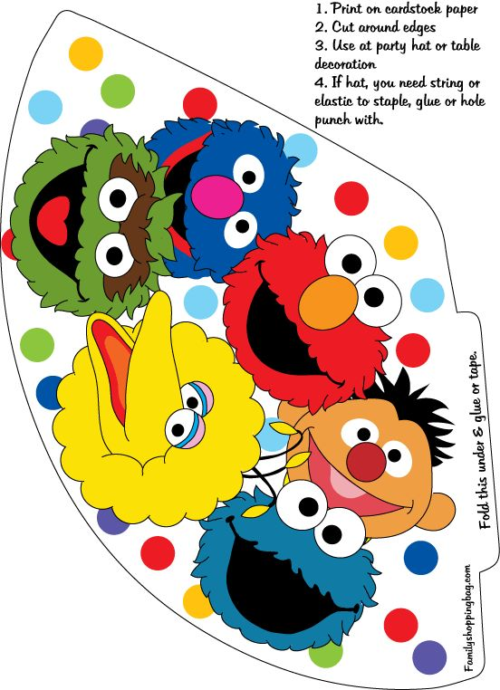 216 best sesame street printables images on pinterest for Printable elmo cake template