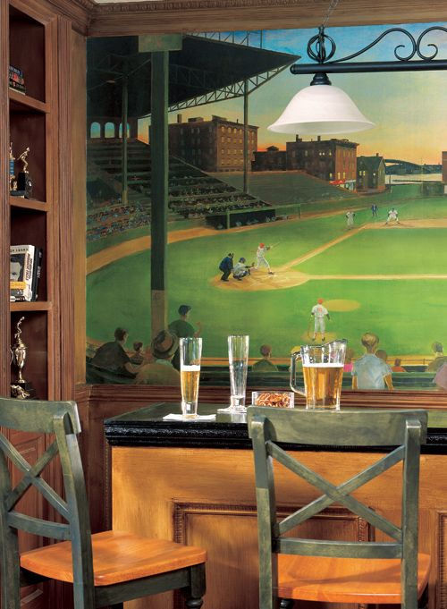 Classic Baseball Under The Lights First Picture Wall Mural UR2027MMP