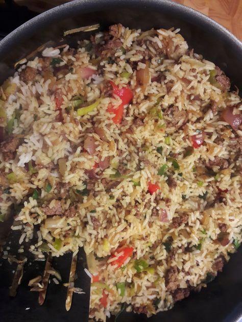 Nasi met gehakt (zonder pakjes of zakjes)