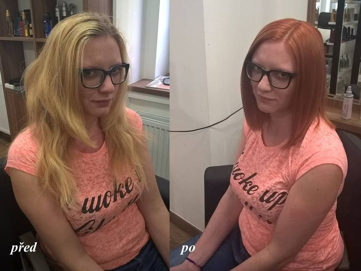 Proměna - změna barvy i střihu. / Hair change - new hair cut and new color of hair. Before and after.