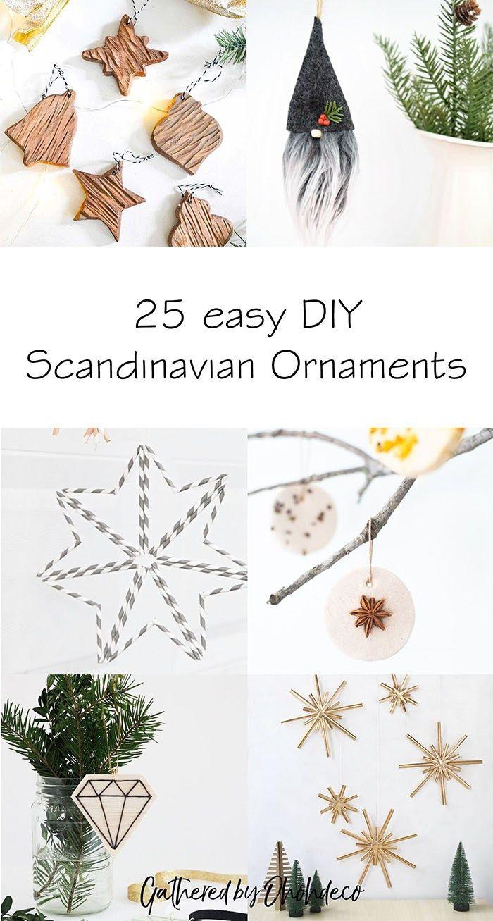 25 Easy Diy Scandinavian Christmas Ornaments Ohoh Deco Scandinavian Christmas Ornaments Nordic Christmas Decorations Diy Christmas Ornaments