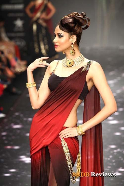 Multi-colour saree for bridesmaids
