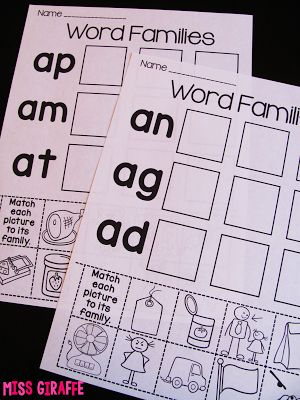 25+ best ideas about Word family activities on Pinterest | Spell ...