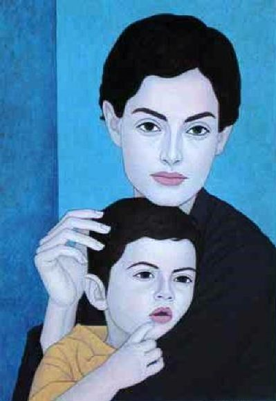 George Kotsonis (1940, Greek)  mother-and-child-2