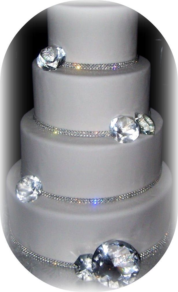 Okay, you want a little bling or sparkle for a cake, and don't know where to begin?...You've come to the right place!     *The diamonds are...