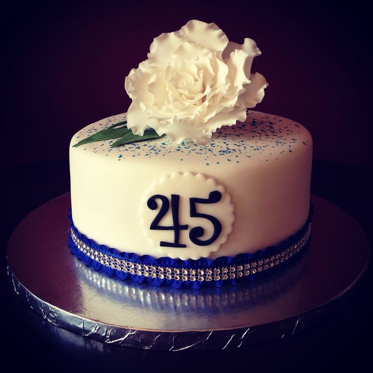 45th Wedding Anniversary Cake
