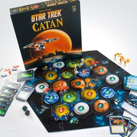 Take Settlers of Catan on a five year mission! Oh yeah! It's Star Trek Catan!