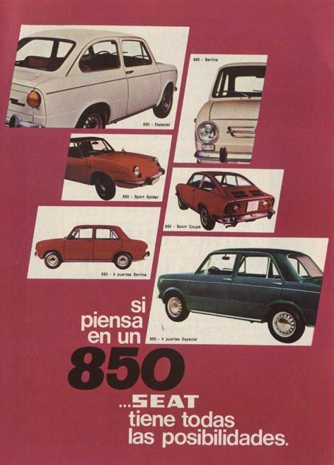 Afiches publicidad retro | Spain | Seat 850
