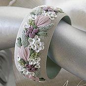 "Handmade Jewelry. Fair Masters - handmade bracelet ""Morning hydrangea"" with the colors of polymer clay. Handmade."