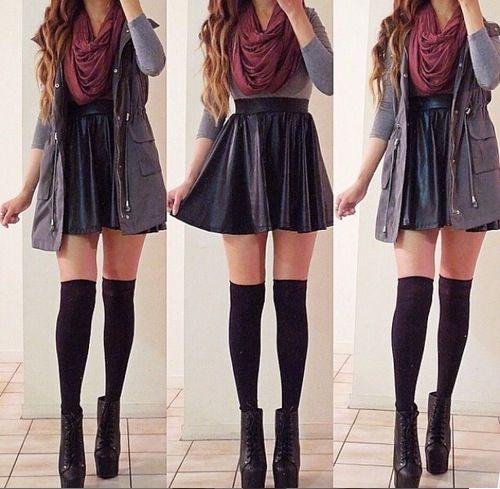 Anorak vest with skirt