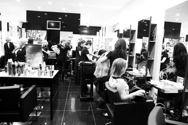 Our Stevenage salon in action