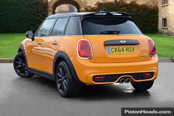 volcanic orange mini cooper s without stripes used 2014. Black Bedroom Furniture Sets. Home Design Ideas