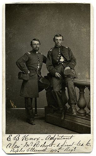 Edward Burgin Knox (left) and comrade by unidentified photographer. Nicknamed…