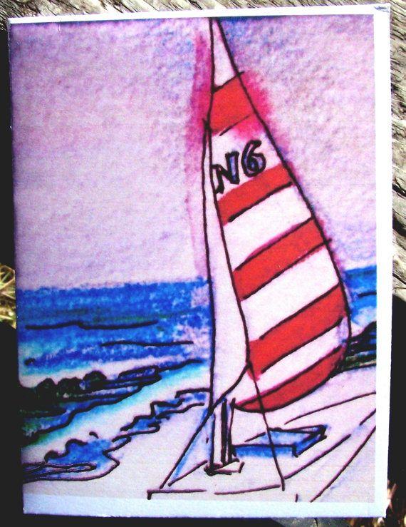 Karte Segelboot innen leer