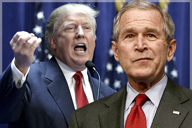 Donald Trump savages George W. Bush in one tweet and actually makes sense for the first time