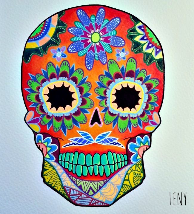 Obras de arte de calaveras mexicanas buscar con google for Pinterest obras de arte