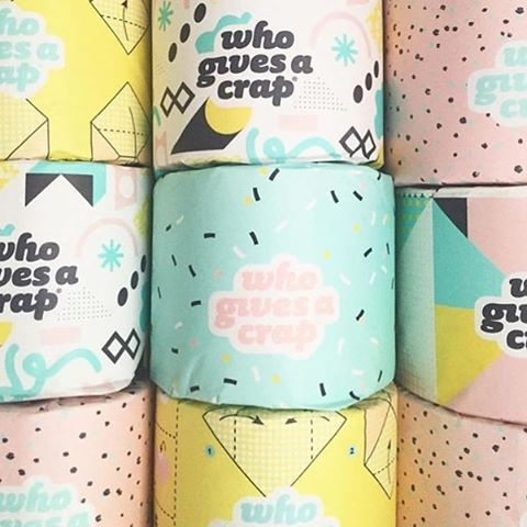 Oh my goodness! I never thought I'd ever get so excited over toilet paper! @whogivesacraptp makes 100% forest friendy paper and donates 50% of all profits to Water Aid. How great is this packaging designed by @beciorpin #amazing!!!