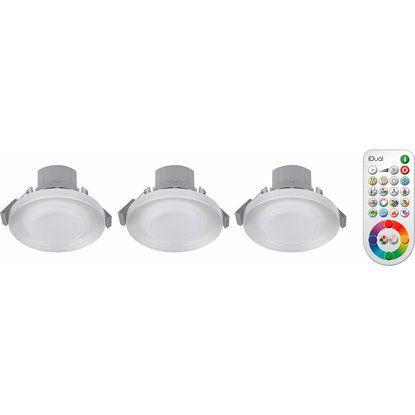 JEDI LED-Einbauleuchte EEK: A+ Performa Glas 3er-Set
