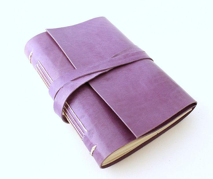 Lavender Leather Journal by GatzBcn on Etsy