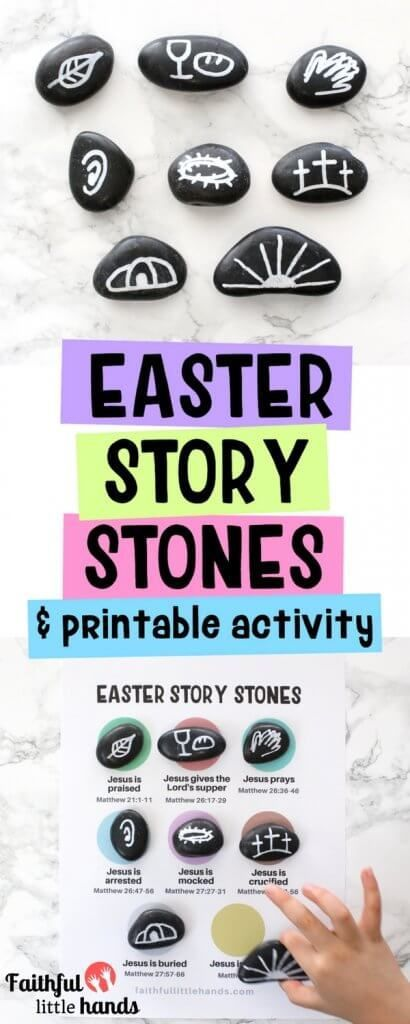 Easter Story Stones Bible Craft