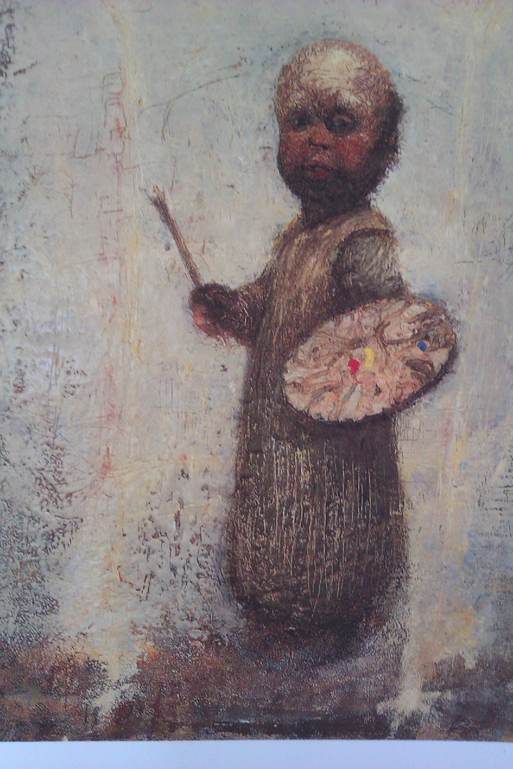 Art by Kurt Trampedach ..title` the little painter` like his art