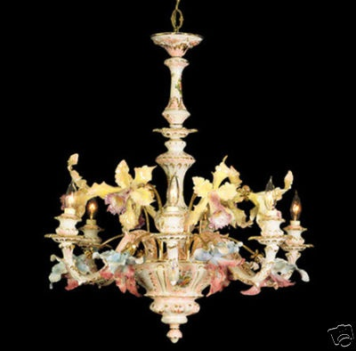 Capodimonte Mother of Pearl Chandelier