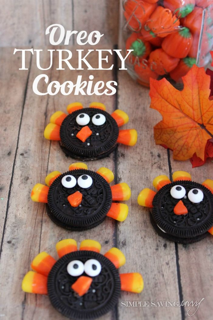 Oreo Turkey Cookies - super easy and fun! | SimpleSavingSavvy.net