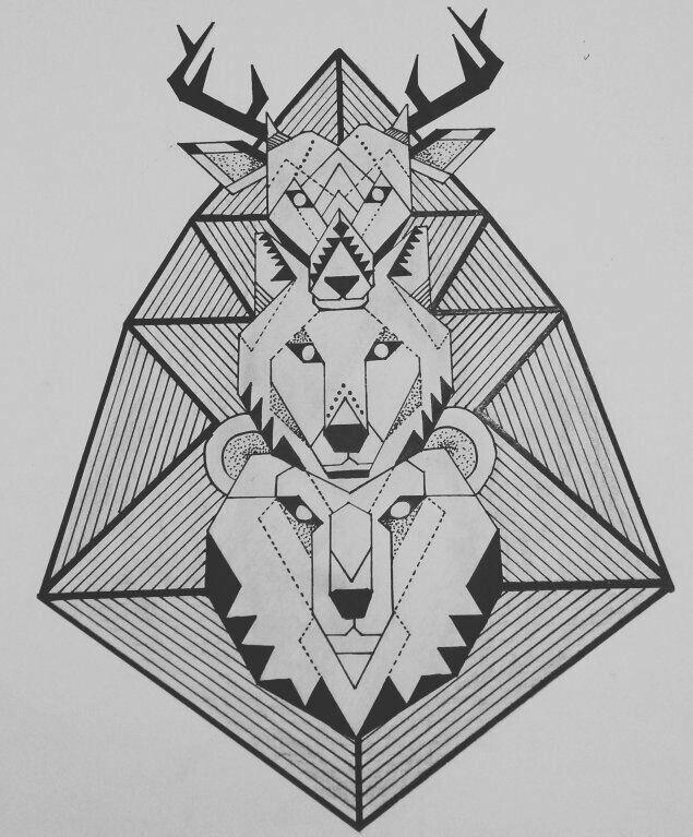 Finished !#Deer #Wolf #Bear