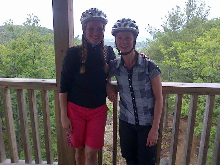 Made it to the top of the Power Tower - awesome climb and beautiful view:) - Mont St Marie, QC