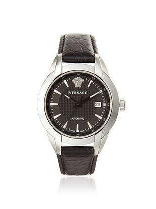 Versace Men's 25A399D008 S009 Character Black Leather Watch