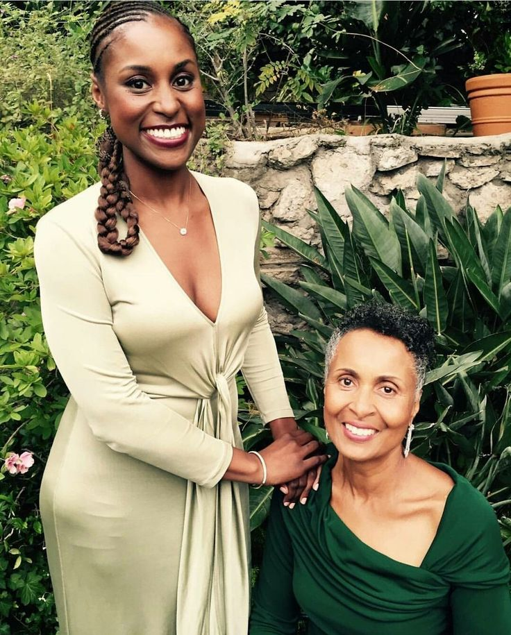 Issa Rae with her mother Delyna.