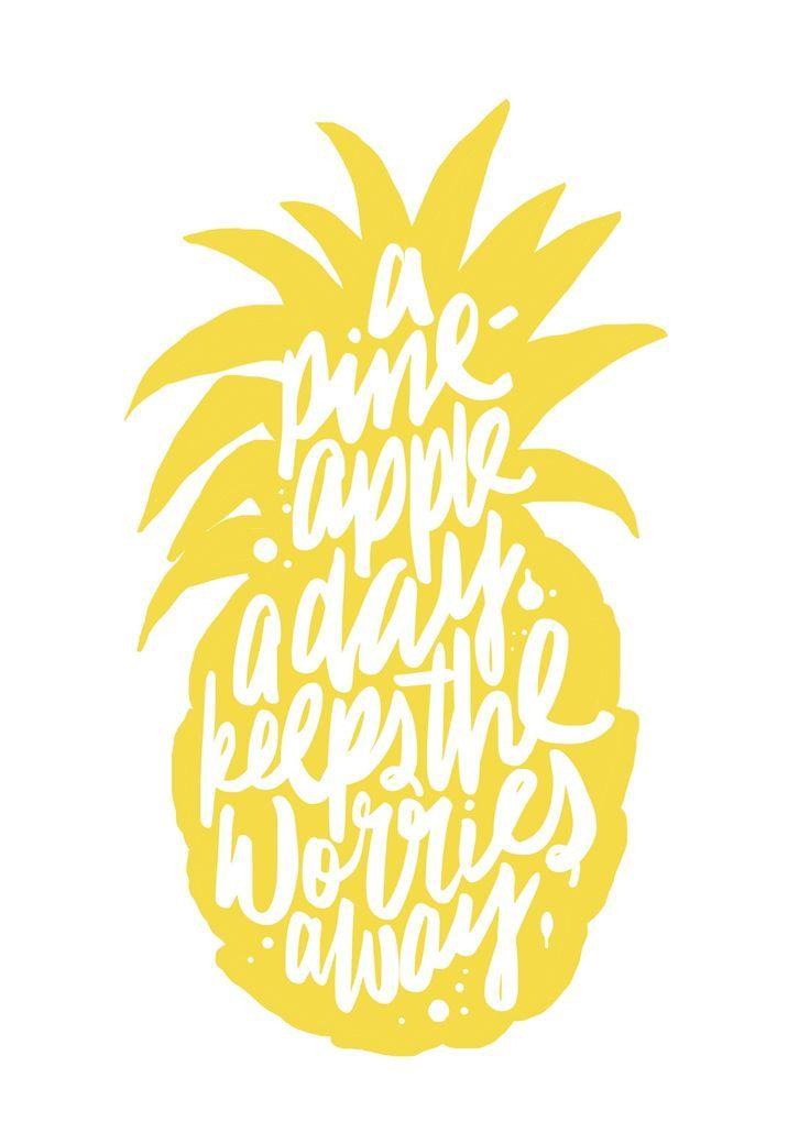 A pineapple a day keeps the worries away   Maiko Nagao, September 2014
